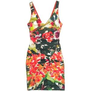Nicole Miller Artelier Floral Print Sheath Dress 6